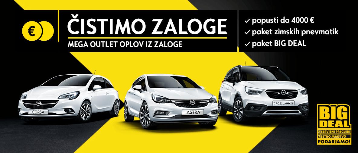 čiščenje zaloge Opel